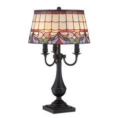 Lite Source Lighting Thasos Dark Bronze Table Lamp with Empire Shade