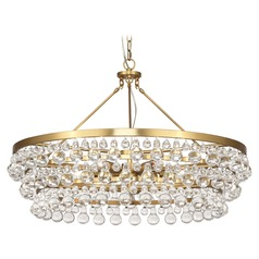 Robert Abbey Bling Antique Brass Chandelier