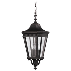 Outdoor Hanging Light with Clear Glass in Grecian Bronze Finish