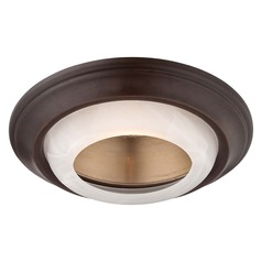 Minka Lighting 6-Inch Dark Bronze Recessed Light Trim