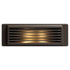 Recessed Step Light in Bronze Finish