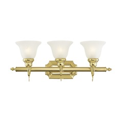 Livex Lighting French Regency Polished Brass Bathroom Light
