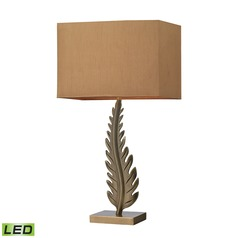 Dimond Lighting Aged Brass LED Table Lamp with Rectangle Shade
