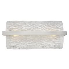 Chloe Brushed Nickel Bathroom Light - Vertical or Horizontal Mounting