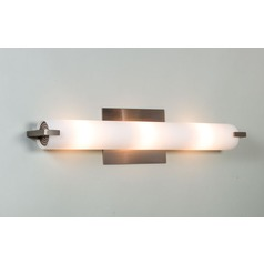 Elf Plus Satin Nickel Bathroom Light - Vertical or Horizontal Mounting