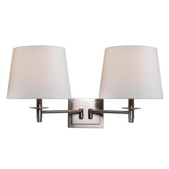 Kenroy Home Glenn Brushed Steel Swing Arm Lamp