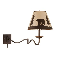 Bozeman Burnished Bronze Swing Arm Lamp by Vaxcel Lighting