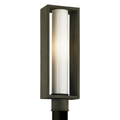 Troy Lighting Mondrian Textured Bronze Post Light