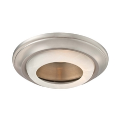 Minka Lighting 6-Inch Brushed Nickel Recessed Light Trim