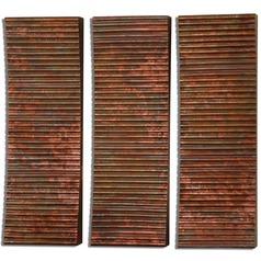 Uttermost Adara Copper Wall Art Set of 3