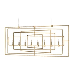 Currey and Company Lighting Metro Gold Leaf Island Light