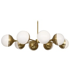 Robert Abbey Jonathan Adler Rio Antique Brass Chandelier