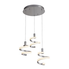 Craftmade Lighting Matte Silver/chrome LED Multi-Light Pendant