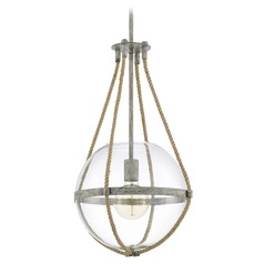 Capital Lighting Beaufort Mystic Sand Pendant Light with Globe Shade