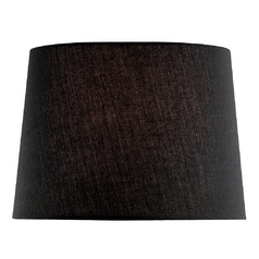 Lite Source Lighting Black Drum Lamp Shade with Spider Assembly CH1151-16BLK