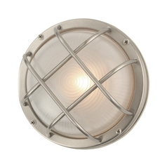 Design Classics Stainless Steel Marine Wall Light - 8-Inches Wide 39456 SS
