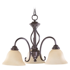 Quorum Lighting Spencer Toasted Sienna Mini-Chandelier