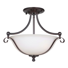 Craftmade Lighting Chelsea Oil Bronze Gilded Semi-Flushmount Light