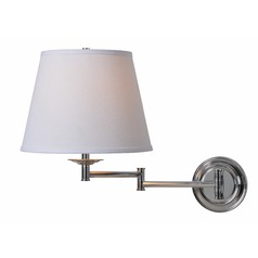 Kenroy Home Architect Series Chrome Swing Arm Lamp