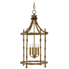 Currey and Company Bansari Antique Brass Pendant Light