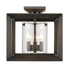 Smyth Semi-Flush (Low Profile) in Gunmetal Bronze with Clear Glass
