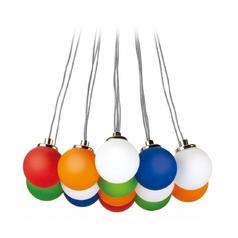 Lite Source Lighting Rhythm Multi-Light Pendant with Oval Shade