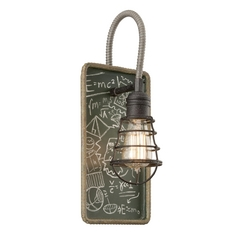 Industrial Relativity Wall Light Sconce with Vintage Style Cage Shade
