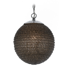 Modern Pendant Light with Black Shade