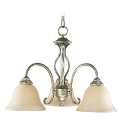 Quorum Lighting Spencer Mystic Silver Mini-Chandelier