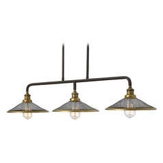 Hinkley Rigby 3-Light Chandelier in Buckeye Bronze