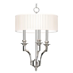 Hudson Valley Lighting Mercer Aged Brass Pendant Light with Drum Shade