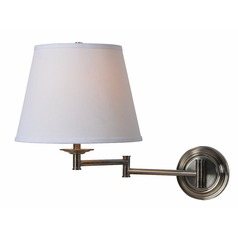 Kenroy Home Architect Series Dark Antique Brass Swing Arm Lamp