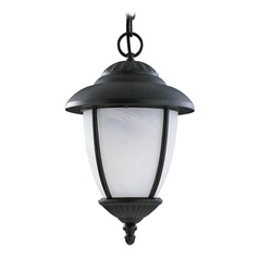 Sea Gull Lighting Yorktown Black Outdoor Hanging Light