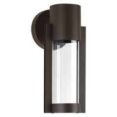 Seeded Glass LED Outdoor Wall Light Bronze Progress Lighting