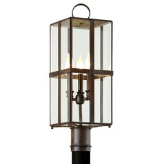 Troy Lighting Rutherford Charred Bronze Post Light