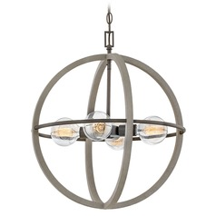 Hinkley Lighting Bodie Dark Cement / Bronze Mini-Chandelier