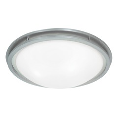 Access Lighting Aztec Brushed Steel Flushmount Light