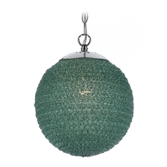 Modern Pendant Light with Green Shade