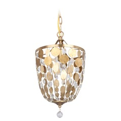 Crystorama Lighting Bella Antique Gold Mini-Pendant Light