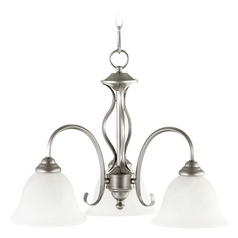 Quorum Lighting Spencer Classic Nickel Mini-Chandelier