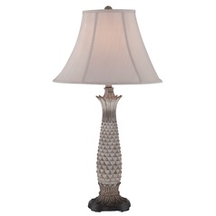Lite Source Lighting Lourdes Painted Light Brown Table Lamp with Bell Shade