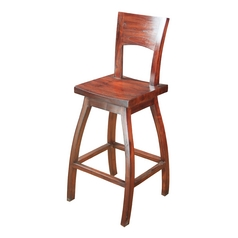 Sterling Lighting Mahogany Barstool