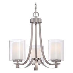 Minka Parsons Studio Brushed Nickel Mini-Chandelier