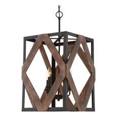 Quoizel Lighting Veranda Western Bronze Pendant Light with Rectangle Shade