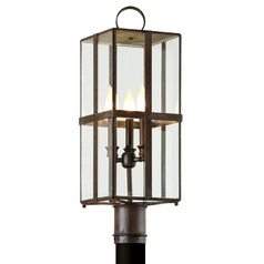 Troy Lighting Rutherford Heirloom Brass Post Light