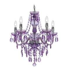 Purple Mini-Chandelier