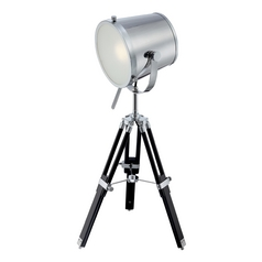 Industrial Tripod Table Lamp in Chrome / Black Finish