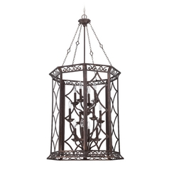 Jeremiah Lighting Evangeline Peruvian Bronze Pendant Light