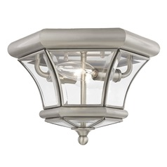 Livex Lighting Monterey/georgetown Brushed Nickel Flushmount Light