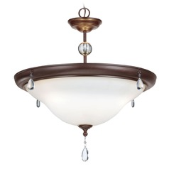 Sea Gull Lighting West Town Burnt Sienna Pendant Light with Bowl / Dome Shade